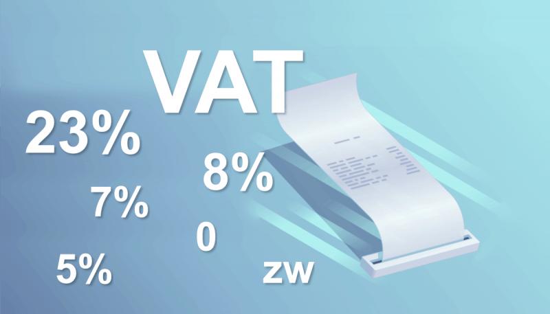 Nowe stawki VAT dla kas fiskalnych w 2019r.