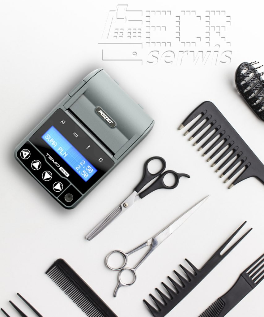 Drukarka fiskalna Temo ONLINE dla fryzjera